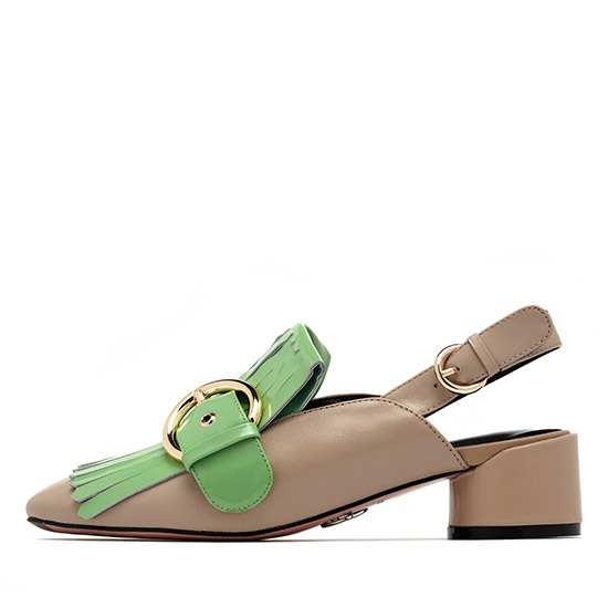 TASSLED SLINGBACK PUMPS NUH6019BE