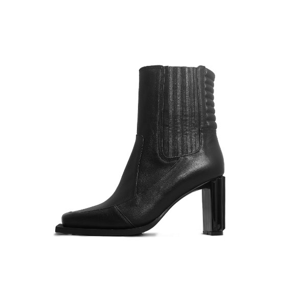 SQUARE INSOLE ANKLE BOOTS NUH4552BK