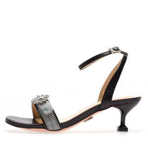 CHECK STRAP SANDALS NUH4493BK
