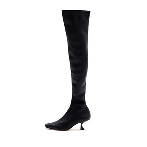 ELASTIC THIGH HIGH BOOTS NUH4516BK