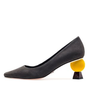VELVET POINT HEEL PUMPS NUH4506GR