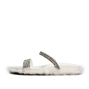 MINK TRIMMING SLIPPERS GG0014WH