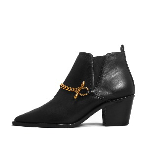 METAL CHAIN ANKLE BOOTS NUH4547BK