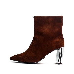 LEATHER LINE ANKLE BOOTS NUH4551BR