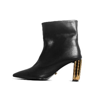 LEATHER LINE ANKLE BOOTS NUH4550BK