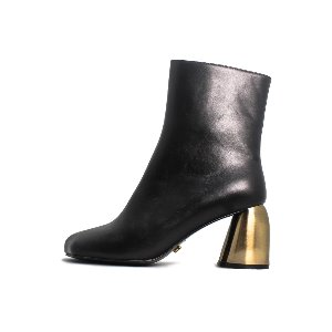 SQUARE TOE ANKLE BOOTS NUH4546BK