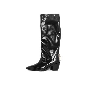BACK METAL LONG BOOTS NUH4556BK