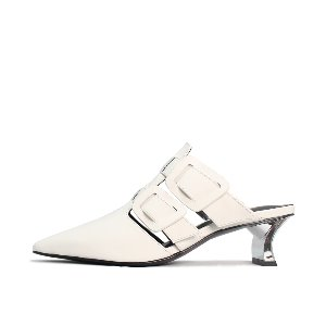 TWO BUCKLE MULES NUH4559WH