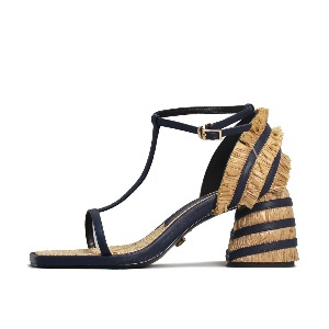 STRAW HEEL SANDALS NUH4570NA
