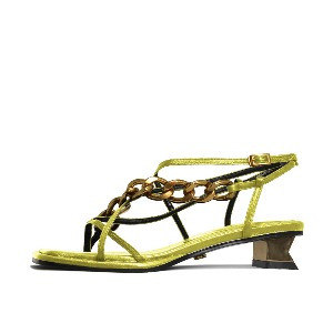 CHAIN AND SQUARE TOE SANDALS NUH4578YE