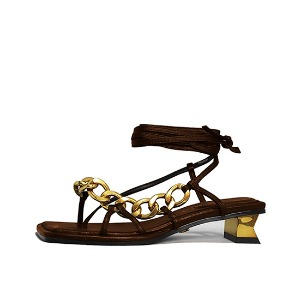 CHAIN AND ANKLE SANDALS NUH4577BR